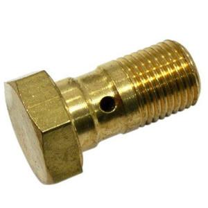 Bullone forato M10x1.25 singolo testa piatta acciaio oro