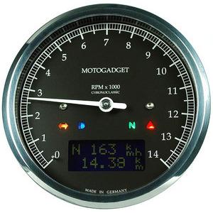 Electronic multifunction gauge Motogadget ChronoClassic Tacho 14K