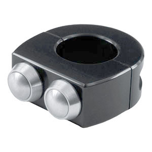 Button set Motogadget 1'' M-Switch 2 black button grey