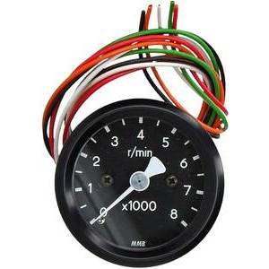 Electronic tachometer MMB Old Style mini 8K body black dial black