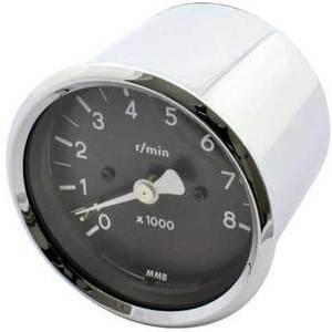 Electronic tachometer MMB Old Style mini 8K body chrome dial black