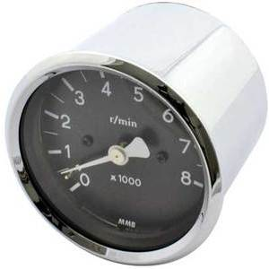 Electronic tachometer MMB Old Style 8K 1:2 body chrome dial black