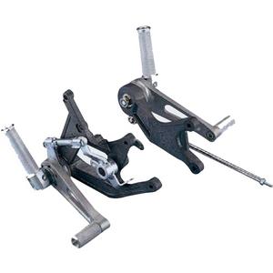 Kit pedane arretrate per Honda CBX 550 F  alluminio pieghevoli