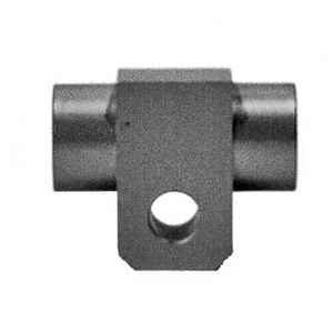 Banjo bolt connector 2 ways straight M10x1 alloy grey