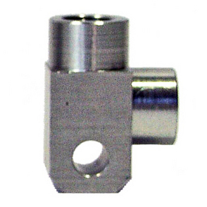 Banjo bolt connector 2 ways 90° M10x1 alloy grey