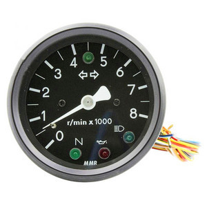 Electronic tachometer MMB Old Style 8K 1:1 control lights body black dial black