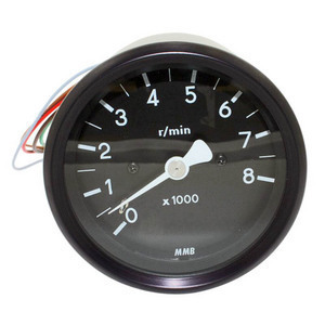 Electronic tachometer MMB Old Style 8K 1:1 body black dial black needle white