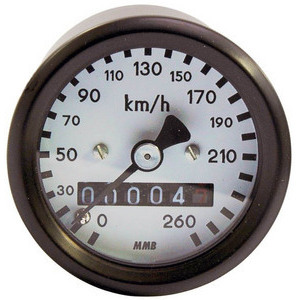 Mechanical speedometer MMB Sport mini K=1 M16 body black dial white