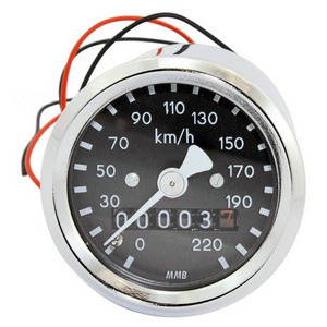 Mechanical speedometer MMB Classic mini K=1 M16 body chrome dial black