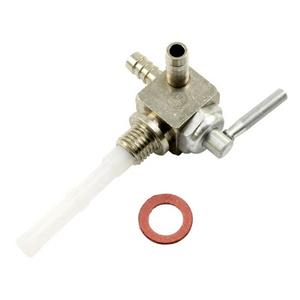 Rubinetto benzina M12x1.5 uscita doppia sinistro ottone
