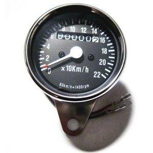 Contachilometri meccanico Classic Japan K=1,4 corpo cromo fondo nero