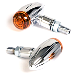 Halogen winkers Bullet Groove micro chrome pair