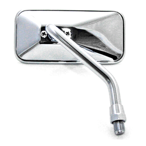 Rearview mirror Bobber short chrome right