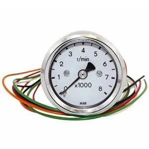 Electronic tachometer MMB Old Style mini 8K body chrome dial white