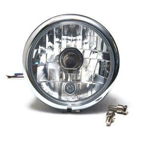 Halogen headlight 5.3/4'' Bates chrome