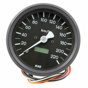 Electronic speedometer MMB Classic body black dial black