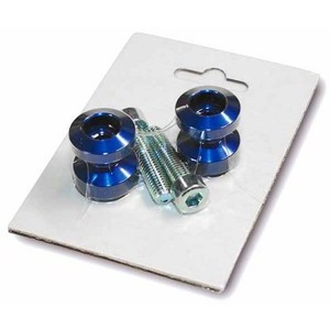 Swingarm bobbins M8 Cafe Racer blue