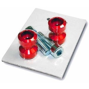 Swingarm bobbins M8 Cafe Racer red