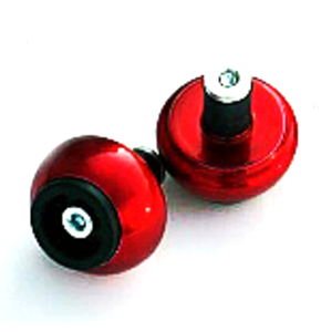 Bar-end weights LSL spheric 18mm red