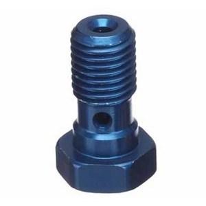 Bullone forato M10x1.25 singolo testa piatta alluminio blu
