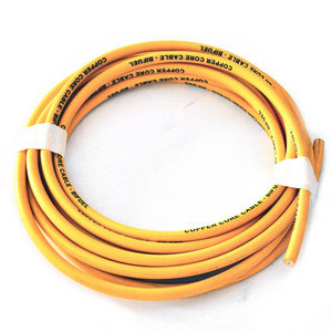Ignition lead cable 7mm silicone yellow