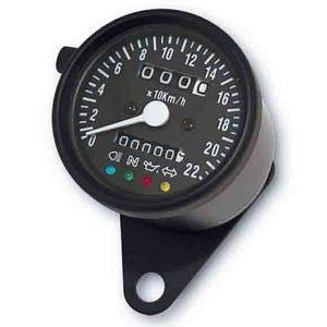 Mechanical speedometer Classic K=1.4 control lights