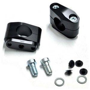 Coppia riser ABM 40mm manubrio 28.5mm nero