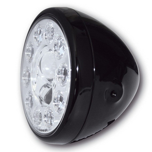 Full led headlight 7'' Highsider Reno Type 1 black polish