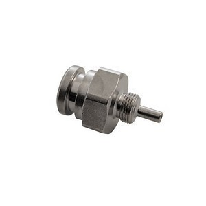 Banjo bolt fitting straight short 3/8''x24