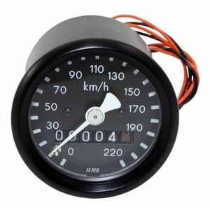 Mechanical speedometer MMB Classic mini K=1 M16 body black dial black pointer white