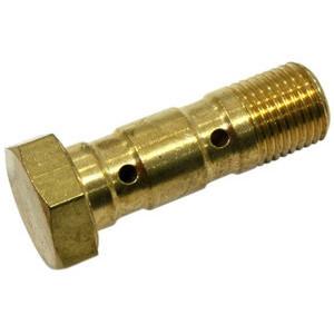 Bullone forato M10x1.25 doppio testa piatta acciaio oro