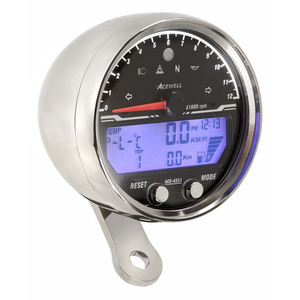 Electronic multifunction gauge AceWell Sport 4553 12K chrome