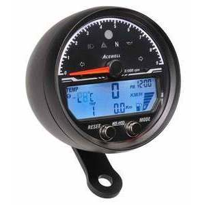Electronic multifunction gauge AceWell Sport 4453 9K black
