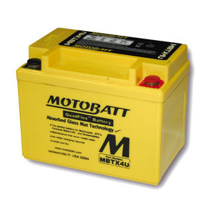 Battery Yamaha TT 600 sealed Motobatt 12V-4,7Ah