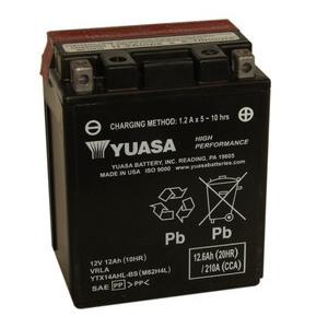 Batteria per Moto Guzzi V 7 i.e. sigillata Yuasa 12V-12Ah