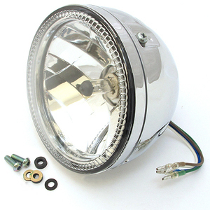 Led headlight 5.3/4'' Highsider Skyline chrome