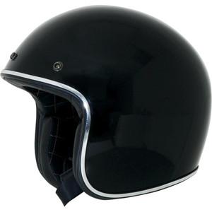 Casco moto aperto AFX Vintage nero lucido