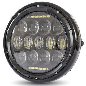 Full led headlight 7'' Multi black polish