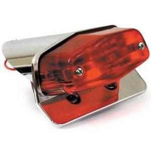 Halogen tail light Lucas Replica mini chrome license plate holder