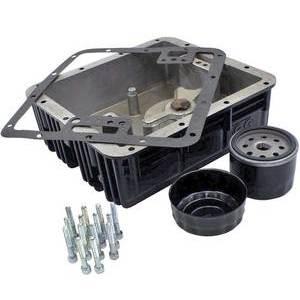 Coppa olio motore per Moto Guzzi Serie Grossa maggiorata filtro inferiore completo nero