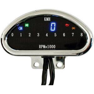 Electronic multifunction gauge Modern chrome