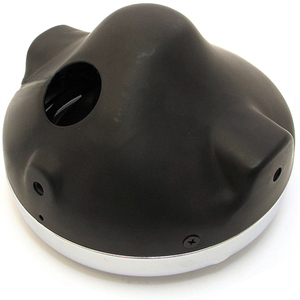 Alloggiamento faro anteriore alogeno 7'' Lucas nero ghiera cromo