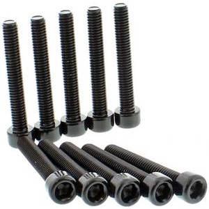Bolt hexagonal head M6x1 35mm alloy black set 10pcs.