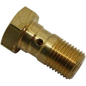Bullone forato M10x1 singolo testa piatta acciaio oro