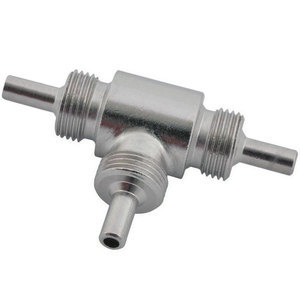 Banjo bolt connector 3 ways M10x1 male stainless steel