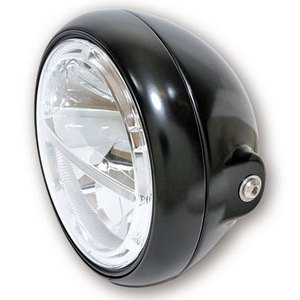 Full led headlight 7'' Highsider Voyage black polish