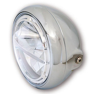 Full led headlight 7'' Highsider Voyage chrome