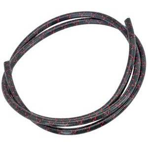 Ignition lead cable 7mm cotton braided black/red covered