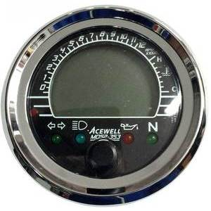 Strumento elettronico multifunzione AceWell MD52-353 corpo nero ghiera cromo