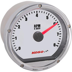 Electronic tachometer Koso Classic 8K dial white